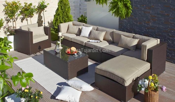 Sof modular jard n muebles de exterior modulares - Muebles de jardin en barcelona ...