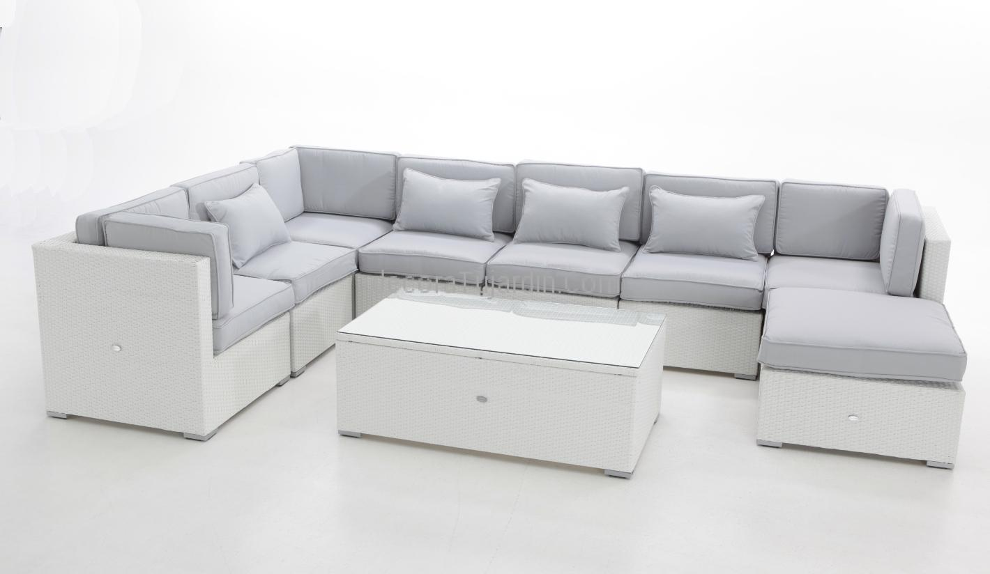 Sof jardin modular blanco for Sofa exterior blanco