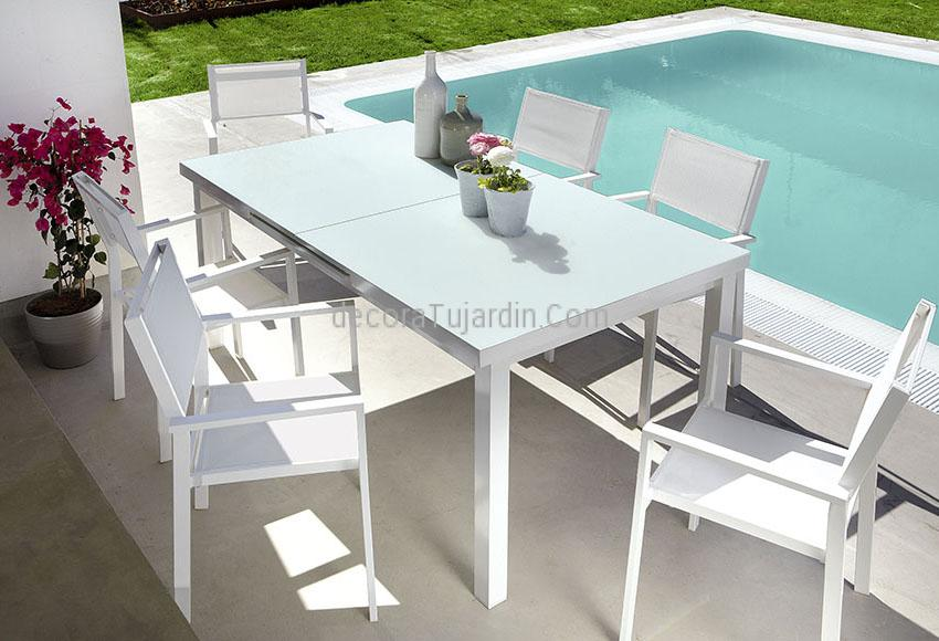 Set de jard n sillas y mesas blanco for Mesa y sillas jardin