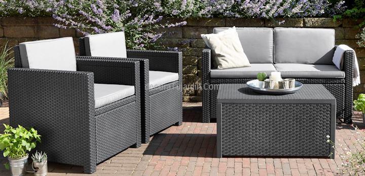 Conjunto sof s de terraza resina for Conjunto muebles terraza baratos