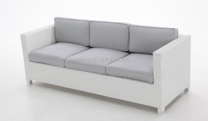 Muebles de exterior sof s de terraza y jard n blanco for Sofa exterior blanco